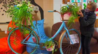 kwietnik z roweru